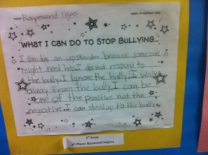 The Caring Being Prevents Bullying Through Classroom Agreements